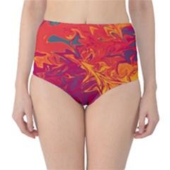 Colors High-Waist Bikini Bottoms