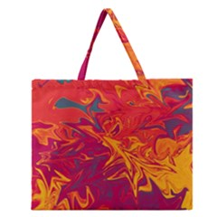 Colors Zipper Large Tote Bag