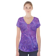 Colors Short Sleeve Front Detail Top