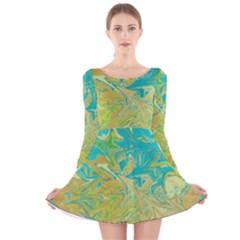 Colors Long Sleeve Velvet Skater Dress