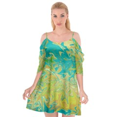 Colors Cutout Spaghetti Strap Chiffon Dress