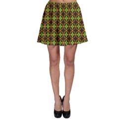 Kiwi Like Pattern Skater Skirt