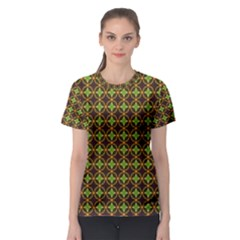 Kiwi Like Pattern Women s Sport Mesh Tee
