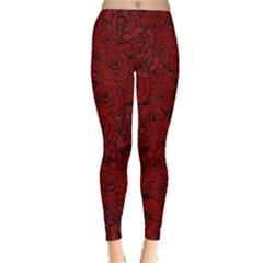 Red Roses Field Leggings