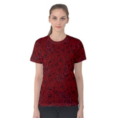 Red Roses Field Women s Cotton Tee