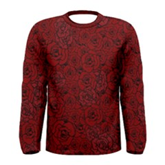 Red Roses Field Men s Long Sleeve Tee