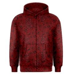 Red Roses Field Men s Zipper Hoodie