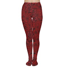 Red Roses Field Women s Tights