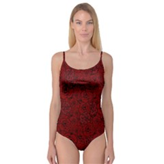 Red Roses Field Camisole Leotard