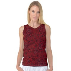 Red Roses Field Women s Basketball Tank Top