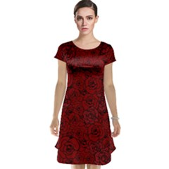 Red Roses Field Cap Sleeve Nightdress