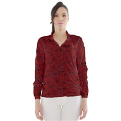 Red Roses Field Wind Breaker (Women)