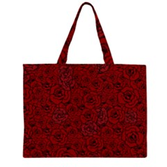 Red Roses Field Large Tote Bag