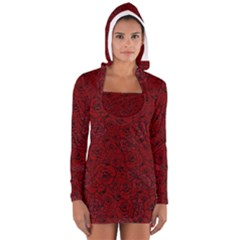 Red Roses Field Women s Long Sleeve Hooded T-shirt