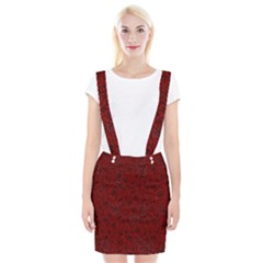 Red Roses Field Braces Suspender Skirt
