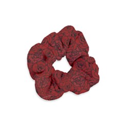 Red Roses Field Velvet Scrunchie