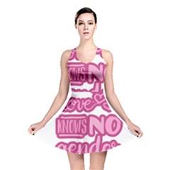 Love knows no gender Reversible Skater Dress