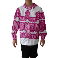 Love knows no gender Hooded Wind Breaker (Kids)