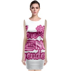 Love knows no gender Classic Sleeveless Midi Dress