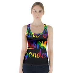 Love knows no gender Racer Back Sports Top