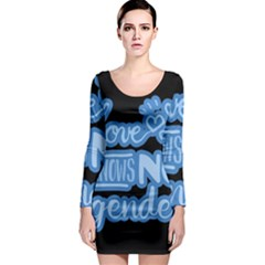 Love knows no gender Long Sleeve Bodycon Dress