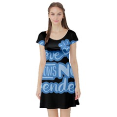 Love knows no gender Short Sleeve Skater Dress