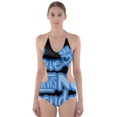 Love knows no gender Cut-Out One Piece Swimsuit