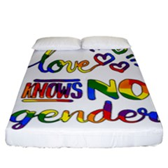 Love knows no gender Fitted Sheet (California King Size)