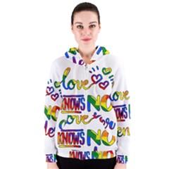 Love knows no gender Women s Zipper Hoodie