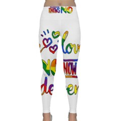 Love knows no gender Classic Yoga Leggings