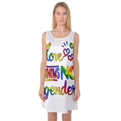 Love knows no gender Sleeveless Satin Nightdress