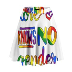 Love Knows No Gender High Waist Skirt