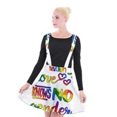 Love Knows No Gender Suspender Skater Skirt