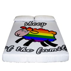 Rainbow sheep Fitted Sheet (King Size)