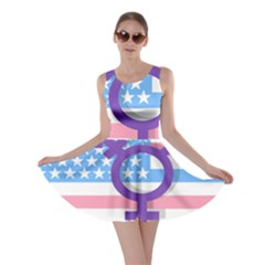 Transgender flag Skater Dress