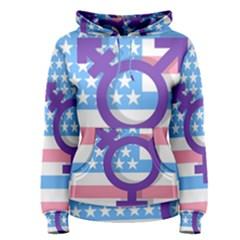 Transgender flag Women s Pullover Hoodie