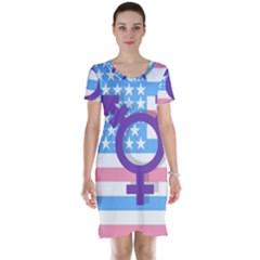 Transgender flag Short Sleeve Nightdress