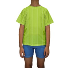 Lines pattern Kids  Short Sleeve Swimwear