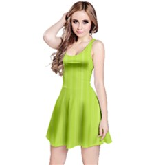 Lines pattern Reversible Sleeveless Dress