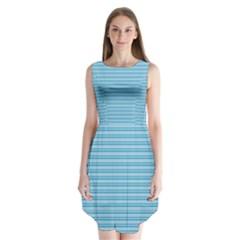 Lines pattern Sleeveless Chiffon Dress