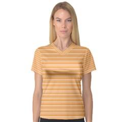 Lines pattern Women s V-Neck Sport Mesh Tee