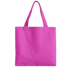 Lines pattern Zipper Grocery Tote Bag