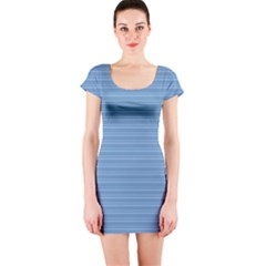 Lines pattern Short Sleeve Bodycon Dress
