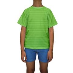 Lines pattern Kids  Short Sleeve Swimwear