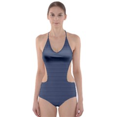 Lines pattern Cut-Out One Piece Swimsuit