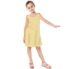 Lines pattern Kids  Sleeveless Dress