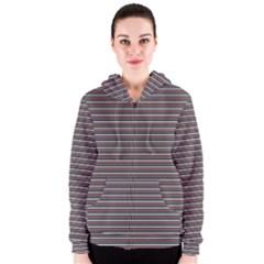 Lines pattern Women s Zipper Hoodie
