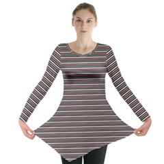 Lines pattern Long Sleeve Tunic