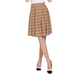 Lines pattern A-Line Skirt