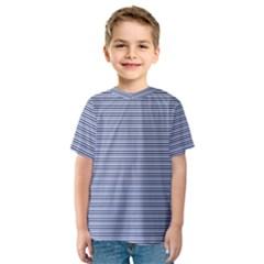 Lines pattern Kids  Sport Mesh Tee